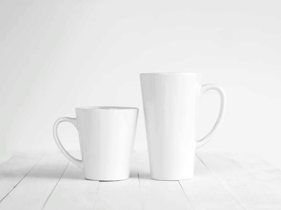 product photography of cups