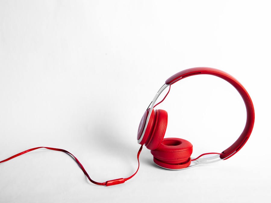 product photography of headphone