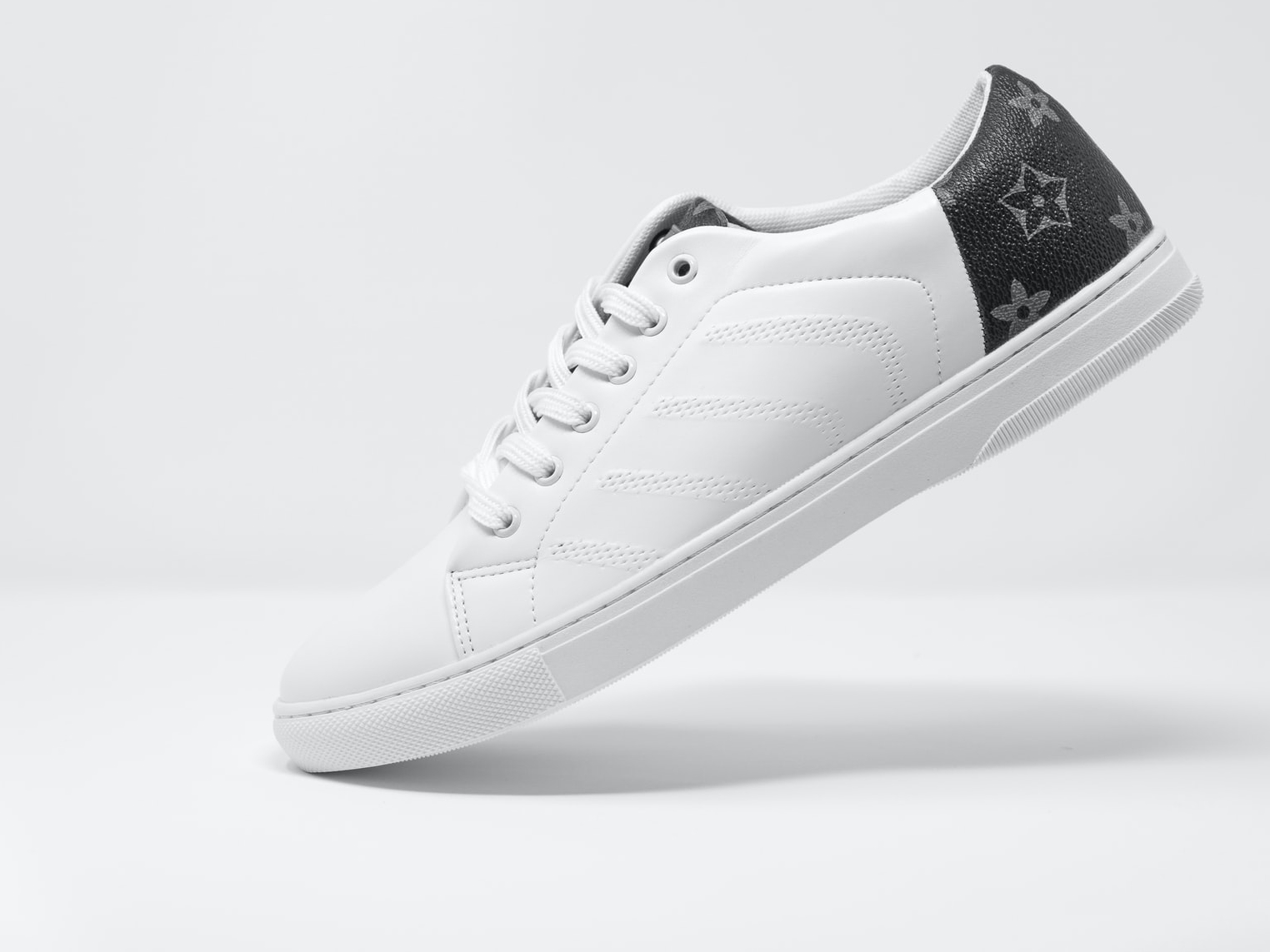 product photography of white shoes